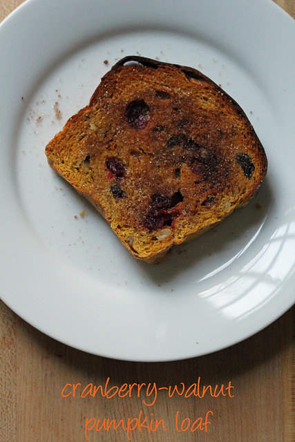 cranberry-walnut pumpkin loaf