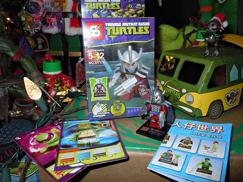 "Sheng Yuan TEENAGE MUTANT NINJA TURTLES :: ""SHREDDER"" Bootleg Minifigure Set ii (( 2014 ))"