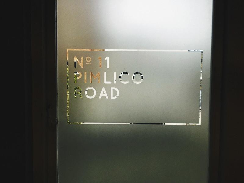 no 11 pimlico road door sign