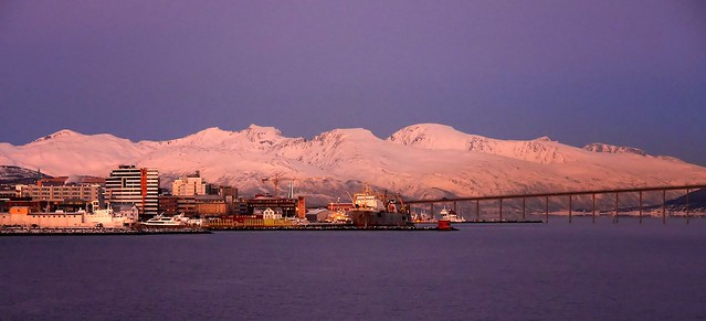 Arriving with the coastal express in the Capitol of Arctic: Tromsø / Tromso in Norway