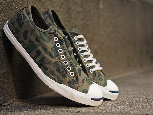 Converse / Jack Purcell LP LS Camo OX Grape Leaf