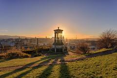 Sun Setting on Edinburgh