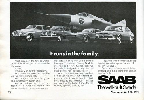 1970 SAAB Advertisement Newsweek April 20 1970