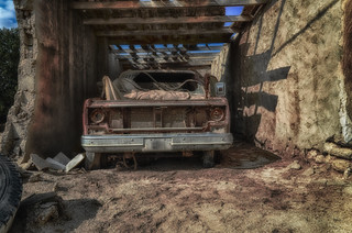 Abandoned Ride in Abandoned Fuwairit Village- Qatar