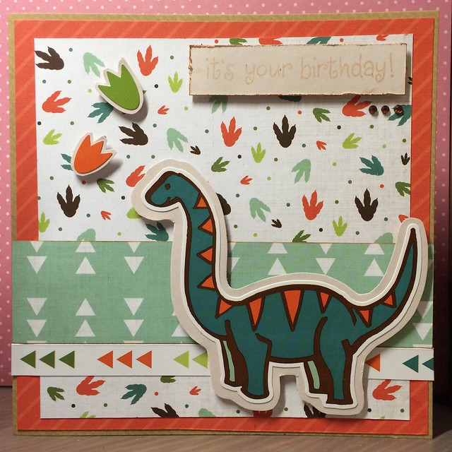 Cute cards - Dinsoaur Card by StickerKitten