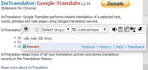Hiển thị đoạn dịch của từ cần dịch