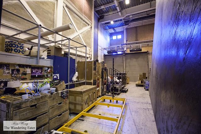 Loading dock (backstage) at Millenium Centre