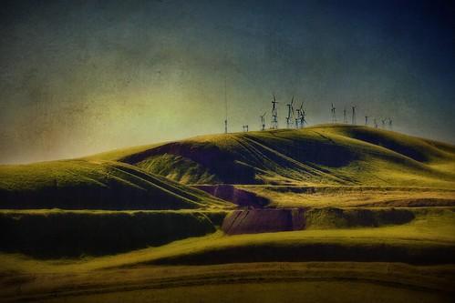 texture windmill silhouette landscape feb 2015