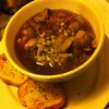 Staying warm on this very cold night! Beef n barley soup w/parm toasts. #goodeats #food #soup #yum