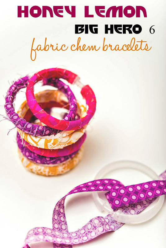 Honey Lemon fabric chem bracelets Big Hero 6 craft #BigHero6Release