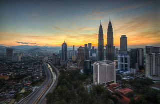 KL City Center during Sunrise, Malaysia