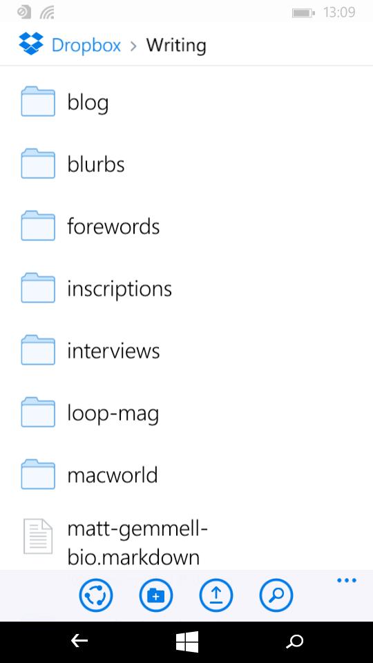 Apps Dropbox