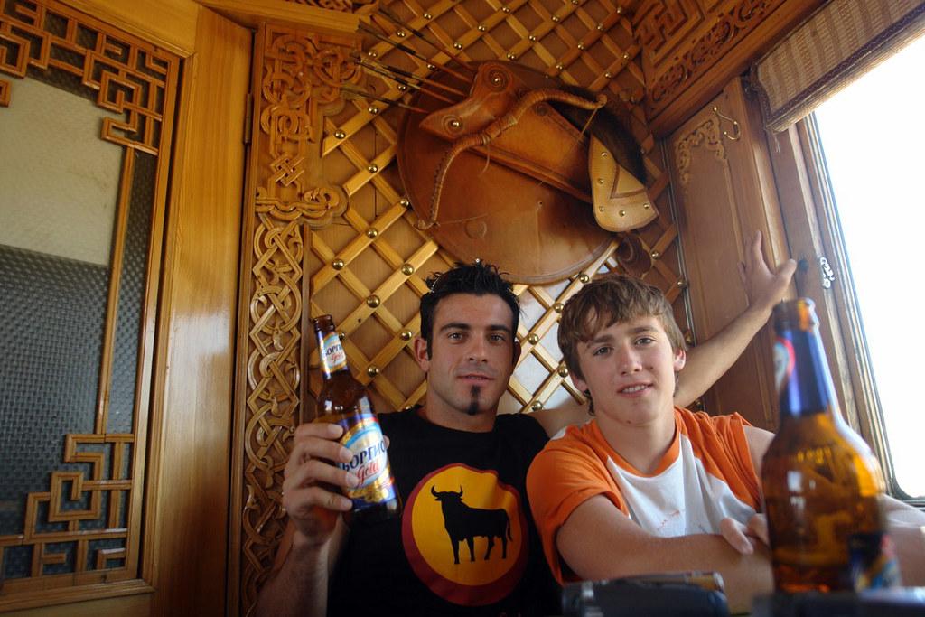 Nuestro refugio de aire fresco en el vagón restaurante