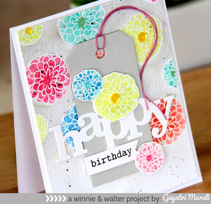 Happy Birthday card closeup