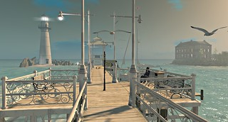 The Pier and The Lighthouse. Photo by Tizzy Canucci on Flickr