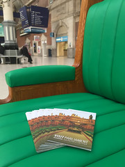 Visit Parliament Commons Bench campaign at Victoria Station
