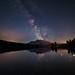 Milky Way over Mt Rundle by Saptashaw Chakraborty