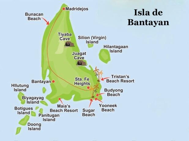 Mapa para recorrer Bantayan