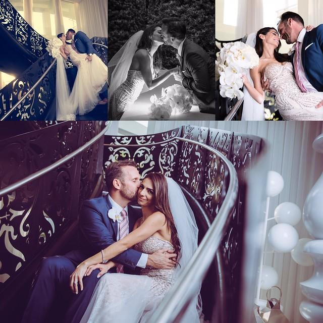 Love Story by Rollofilm #wedding #kiss #love #couple #bride #groom #weddingdress #stairs #hug #flowers