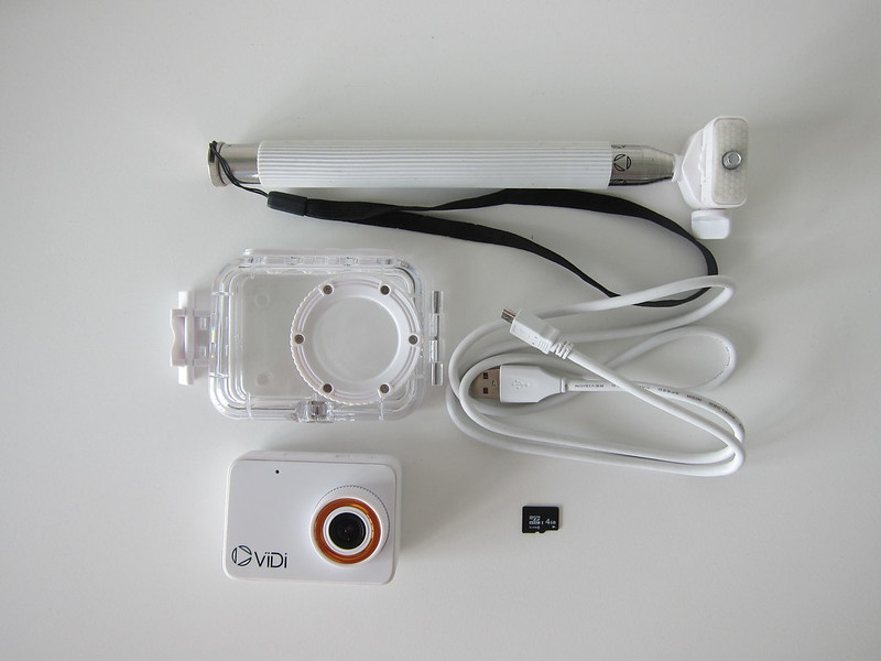ViDi Action Camera - Box Contents