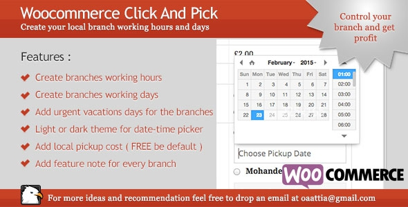 Woocommerce Click And Pick ( Local Pickup ) v1.9.3