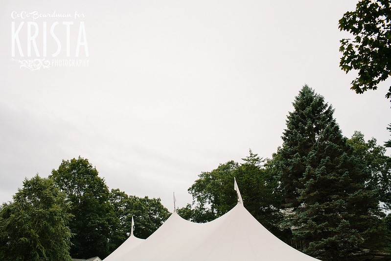 Rainy Backyard Tent Wedding near Boston
