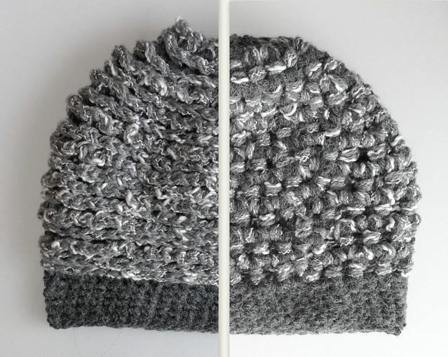 gorrito unisex gris dos formas de usarlo