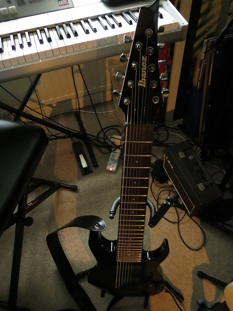 Ibanez RG9-BK nine-string guitar