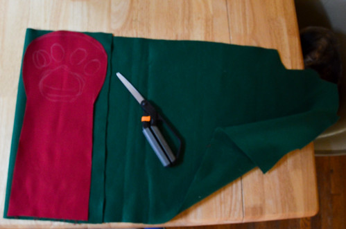Step 2: Cut Arm Fabric (2) and Lining (2)
