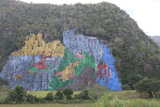 World's shitest rock painting.  Vinales, Cuba.