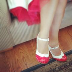 hand(0.0), outdoor shoe(0.0), finger(0.0), lip(0.0), human body(0.0), nail(0.0), toe(0.0), footwear(1.0), shoe(1.0), red(1.0), sandal(1.0), limb(1.0), leg(1.0), foot(1.0), pink(1.0),
