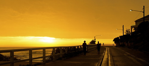 silhouette sunrise dawn australia tamarama