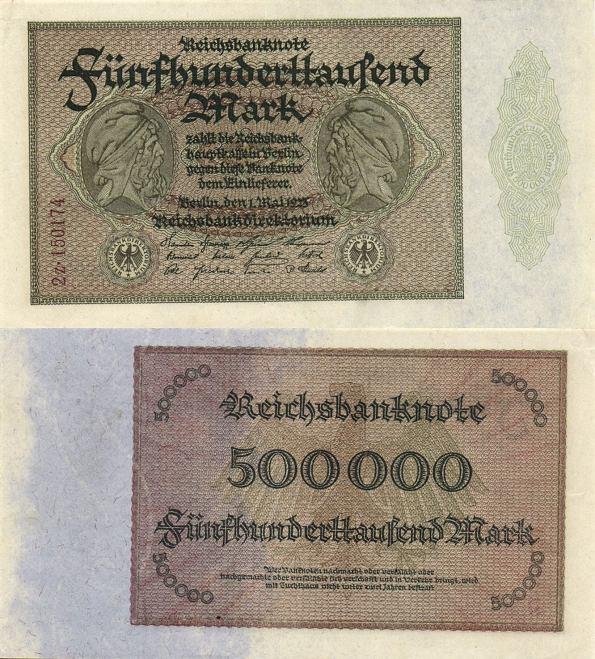 500 000 Mariek Nemecko 1923, Pick 88