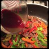 #CucinaDelloZio #Homemade #PepperSteak - 1/4 cup of red #wine (another dab of #butter )