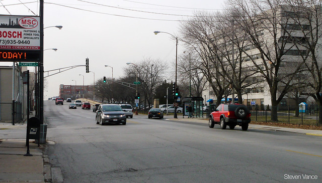 Before conditions on Belmont at Western Avenue