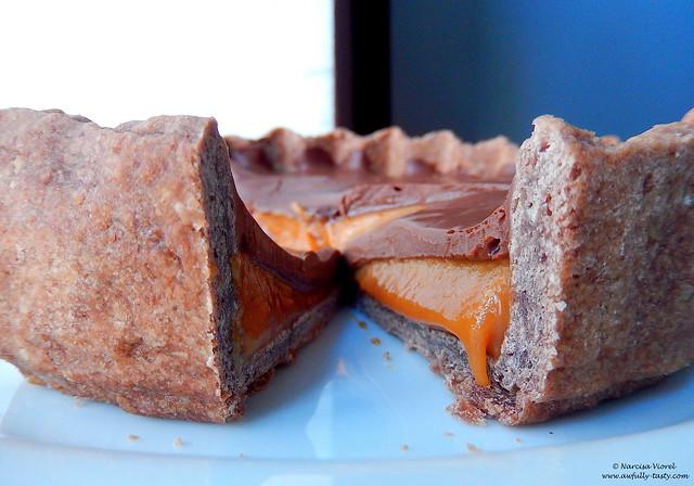 tarta cu ciocolata si caramel