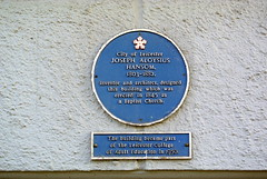 Photo of Joseph Aloysius Hansom blue plaque