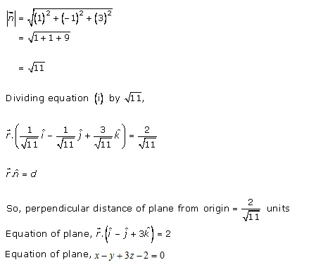 RD Sharma Class 12 Solutions Chapter 29 The Plane 29.4 Q9-i