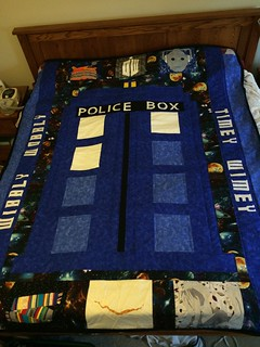Doctor Who quilt finished!