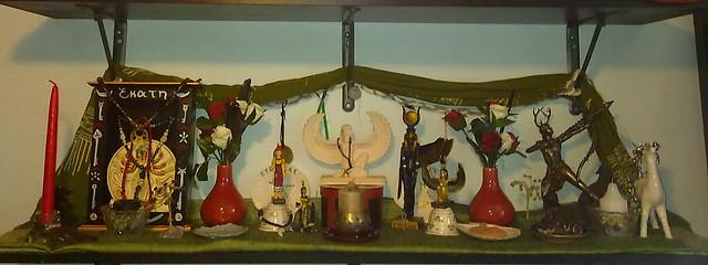 Goddess shrines - Hekate, Nit, Isis, Artemis