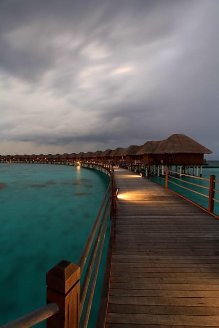 Water villas, Vilu Reef, Maldives