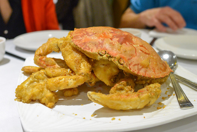 Live Crab with Salt & Pepper live battered crab deep fried and sprinkled with salt and pepper seasonings