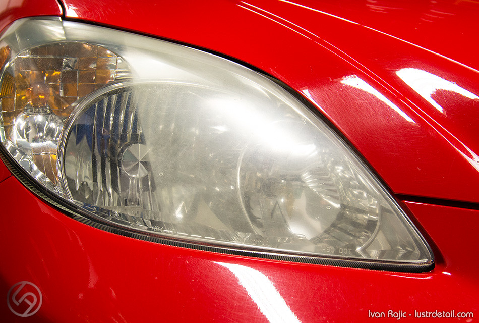 headlight partially restored