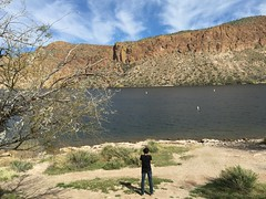 Swaroop and Vinay on the Apache Trail