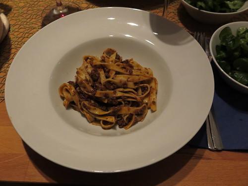 Tagliatelle mit unschlagbarer Bolognese
