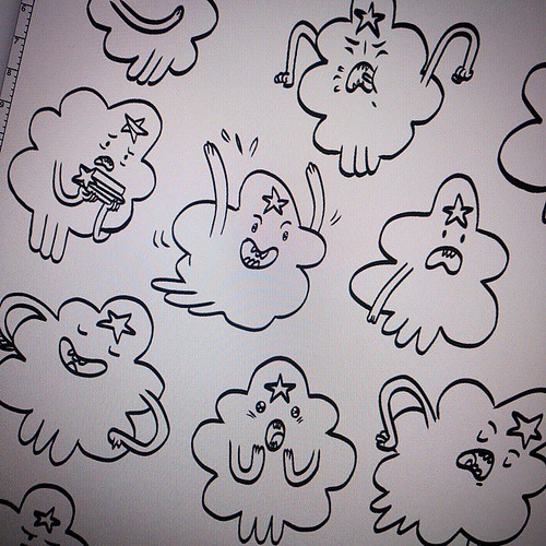 Been experimenting with different weights of line by copying a few LSP poses.