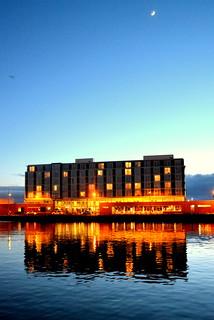 Apex Hotel - City Quay - Dundee Scotland - night time