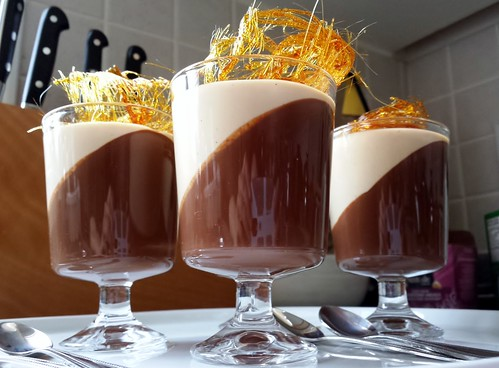 Valentine's Day Dark Chocolate Gelée & Caramel Panna Cotta Verrine