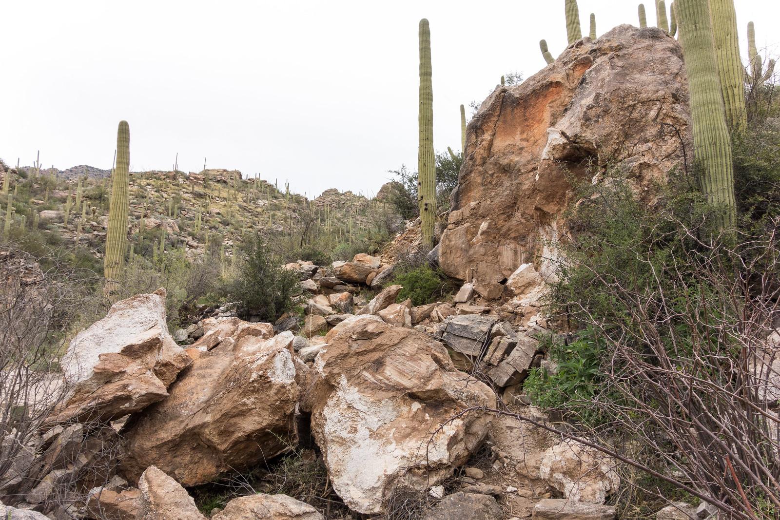 1502 Rockfall on the Pontatoc Trail near Pontatoc Canyon
