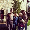 Deb and i with long time friends Mike and Beth Bland,  at Jacuzzi Family winery